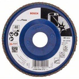 Bosch X581 fíber csiszolótárcsa, Best for Inox 115 mm, 22,23 mm, 40