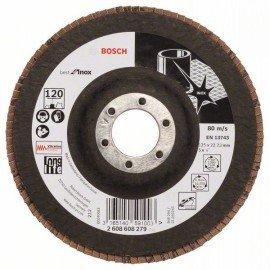 Bosch X581 fíber csiszolótárcsa, Best for Inox 125 mm, 22,23 mm, 120