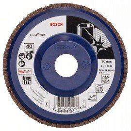Bosch X581 fíber csiszolótárcsa, Best for Inox 125 mm, 22,23 mm, 40