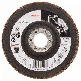Bosch X581 fíber csiszolótárcsa, Best for Inox 125 mm, 22,23 mm, 60