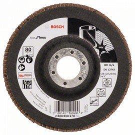 Bosch X581 fíber csiszolótárcsa, Best for Inox 125 mm, 22,23 mm, 80
