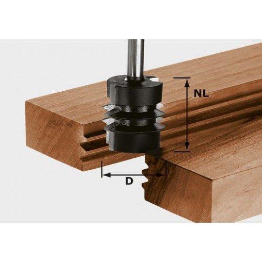 Festool HW bigézőmaró, szár 8 mm HW S8 D34/NL32