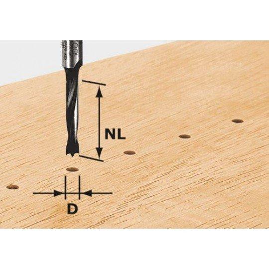 Festool HW csapfúró, szár 8 mm HW D3/16