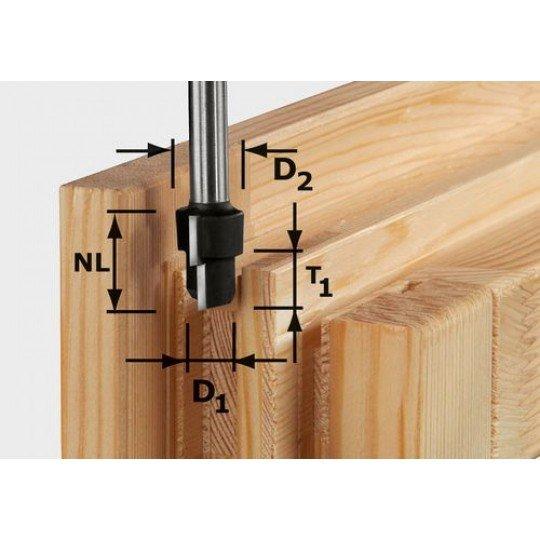 Festool HW fokozatmaró, szár 12 mm-es HW D20,3/12,3/9,3 S12