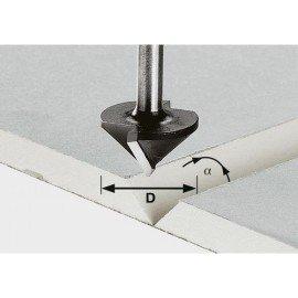 Festool HW gipszkarton-maró, szár 8 mm HW S8 D12,5/45°