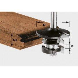 Festool HW kontraprofil-horony-maró 8 mm-es szárral HW S8 D43/21 A/KL