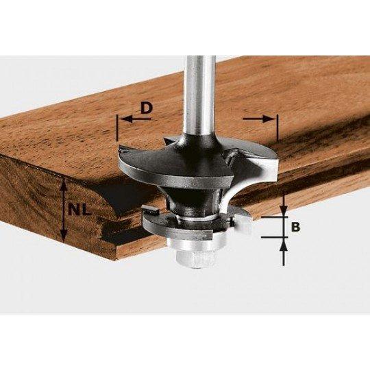 Festool HW kontraprofil-maró, szár 8 mm HW S8 D43/21 A/KL