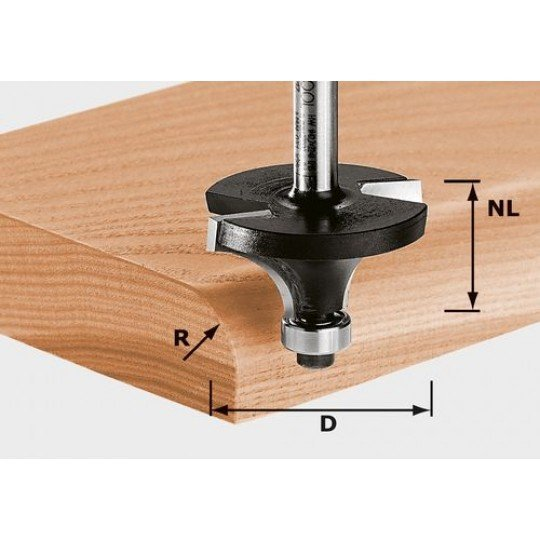 Festool HW lekerekeítőmaró 8 mm-es szárral HW S8 D22,7/R5 KL