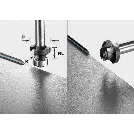 Festool HW Lekerekító-élszintbemaró S8 HW R2 D20-KL OFK