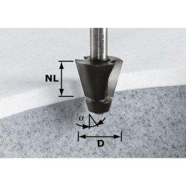 Festool HW letörésmaró 12 mm-es szárral HW D33,54/15° ss S12