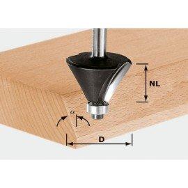 Festool HW letörésmaró 8 mm-es szárral HW S8 D25,7/25,7/15°