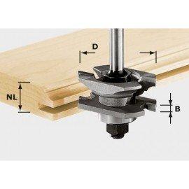 Festool HW profil-horony-maró, szár 8 mm HW S8 D46 x D12-NT