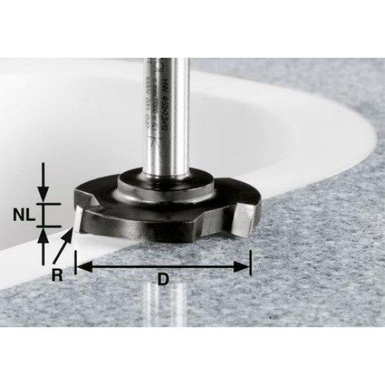 Festool HW síkmaró, szár 12 mm HW D 52/R1ss S12