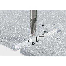 Festool HW spirálélű horonymaró, szár 12 mm-es HW D12/27 ss S12