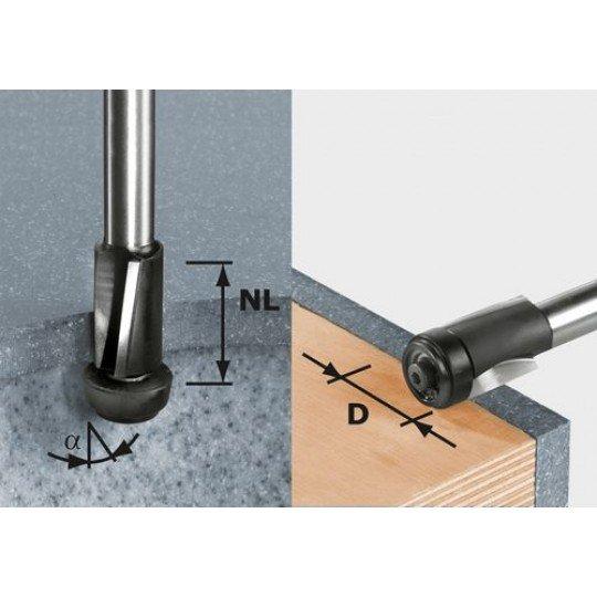 Festool HW szintbemaró, szár 12 mm-es HW D19/25 ss S12