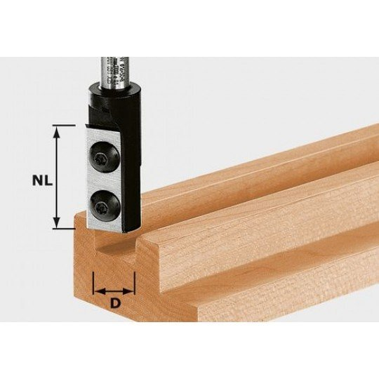 Festool HW váltólapkás nútmaró, szár 8 mm HW D16/30 S8